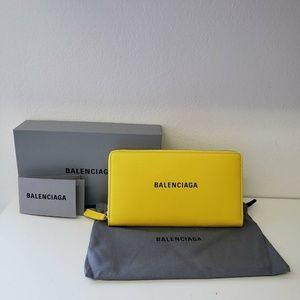 Balenciaga Bags - Balenciaga Zip Leather Wallet Purse - Yellow